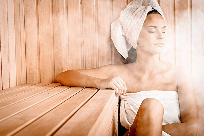 be inspired - Frau in Sauna